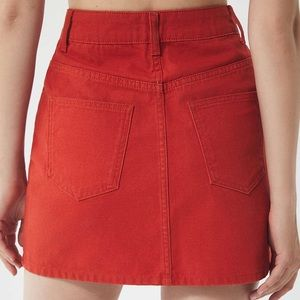 BDG Canvas Mini Skirt in red high waisted A line